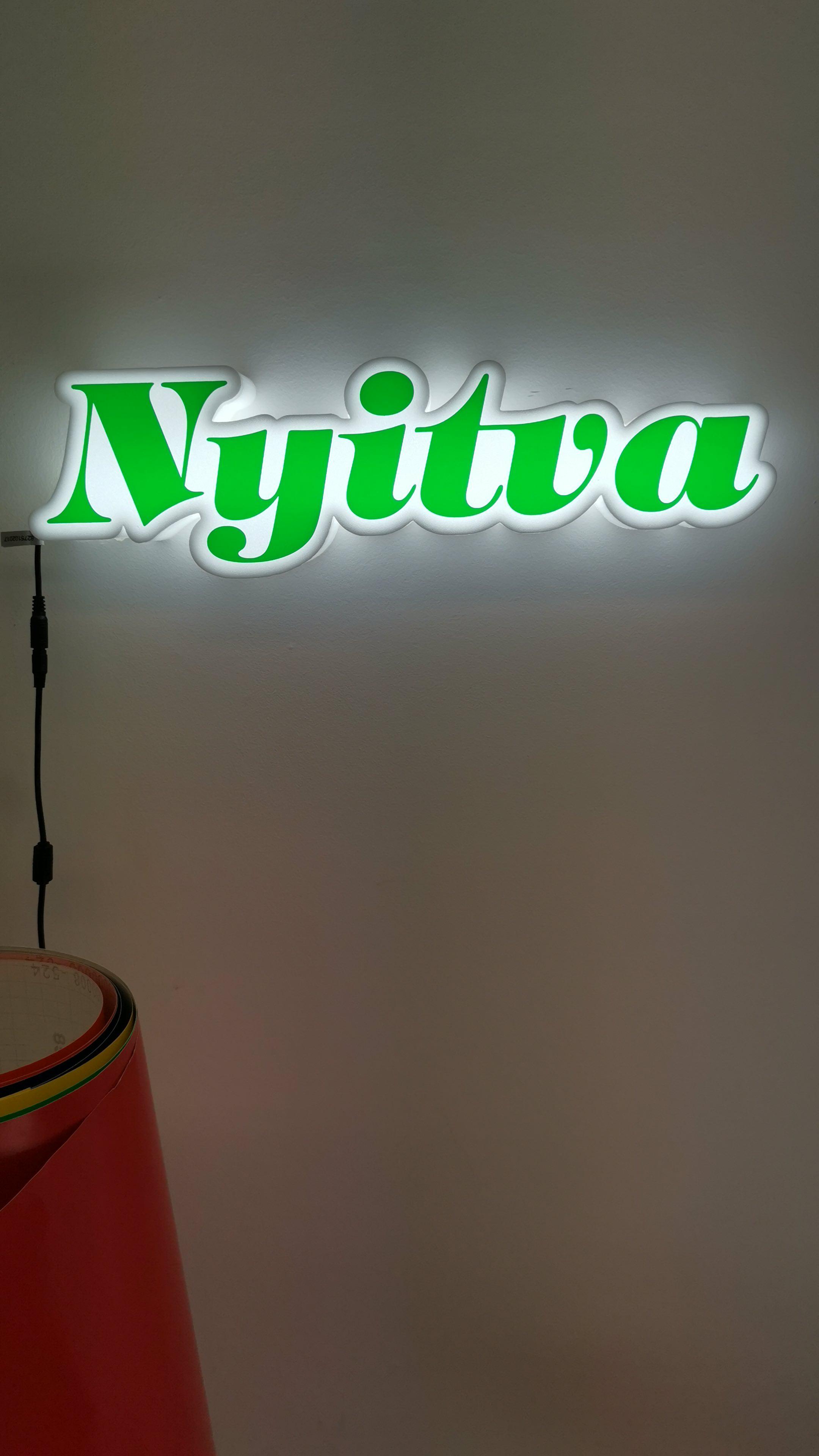 Hab LED világító tábla tervezése és gyártása
